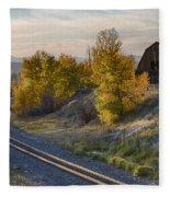 Bend In The Tracks Fleece Blanket