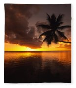 Bending Palm Fleece Blanket
