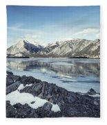 Beneath The Frozen Sky Fleece Blanket
