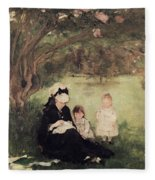 Beneath The Lilac At Maurecourt Fleece Blanket