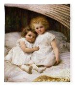 Beneath The Wing Of An Angel Fleece Blanket