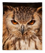 Bengal Owl Fleece Blanket