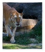 Bengal Tiger On The Prowl Fleece Blanket
