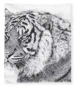 Bengal Tiger Fleece Blanket