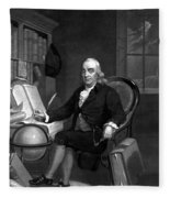 Benjamin Franklin -- The Scientist Fleece Blanket