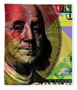Benjamin Franklin - $100 Bill Fleece Blanket