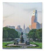 Benjamin Franklin Parkway - Philly Fleece Blanket