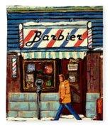 Bens Barbershop Fleece Blanket