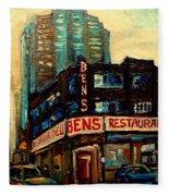 Bens Restaurant Deli Fleece Blanket