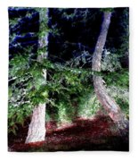 Bent Fir Tree Fleece Blanket