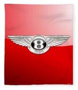 Bentley 3 D Badge On Red Fleece Blanket