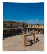 Bent's Fort Courtyard Fleece Blanket