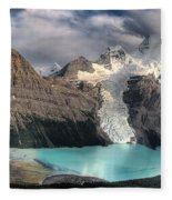 Berg Lake, Mount Robson Provincial Park Fleece Blanket