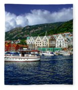 Bergen - Norway Fleece Blanket