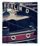Berlin - Historischer Hafen Fleece Blanket