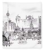 Berlin Medley Monochrome Fleece Blanket