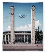 Berlin - Olympic Stadium Fleece Blanket