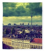 Berlin Roofscape Fleece Blanket