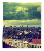 Berlin Skyline And Roofscape Fleece Blanket