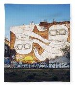 Berlin - Street Art Fleece Blanket