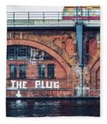 Berlin Street Art - Pull The Plug Fleece Blanket