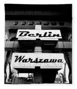 Berlin To Warsaw Frame 1  Fleece Blanket