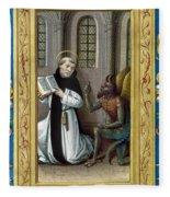 Bernard De Clairvaux Fleece Blanket