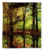 Bernharts Dam Fall 006 Fleece Blanket