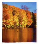 Bernharts Dam Fall 008 Fleece Blanket