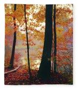 Bernharts Dam Fall 031 Fleece Blanket