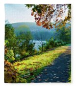 Bernharts Dam Fall 12-25 Fleece Blanket