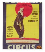Bertram Mills Circus Poster Fleece Blanket