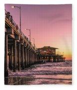 Beside The Pier By Mike-hope Fleece Blanket