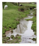 Beside The Still Waters Percherons Fleece Blanket