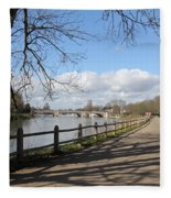 Beside The Thames At Hampton Court London Uk Fleece Blanket