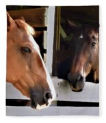 Best Friends Horse Chat Fleece Blanket