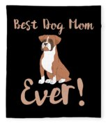 Bestdogmomever Boxer Fleece Blanket