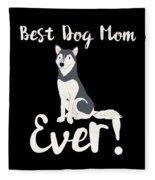 Bestdogmomever Husky Fleece Blanket