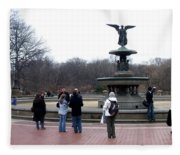 Bethesda Fountain Fleece Blanket