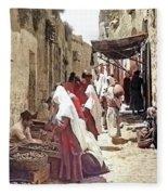 Bethlehem Market 1900 Fleece Blanket