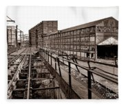 Bethlehem Steel Number Two Machine Shop Fleece Blanket