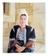 Bethlehem Traditional Dress 1940 Fleece Blanket