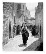 Bethlehemite Going To The Market Fleece Blanket