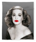 Bette Davis Draw Fleece Blanket