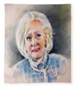Betty White In Boston Legal Fleece Blanket