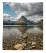Between A Rock And A Beautiful Place Fleece Blanket