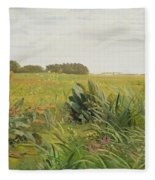 Between Geest And Marsh Fleece Blanket