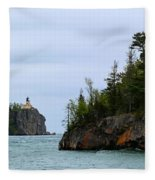 Between Rocks Panorama Fleece Blanket