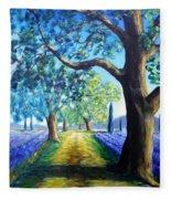 Between The Lavender Fields Fleece Blanket