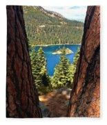 Between The Pines Fleece Blanket